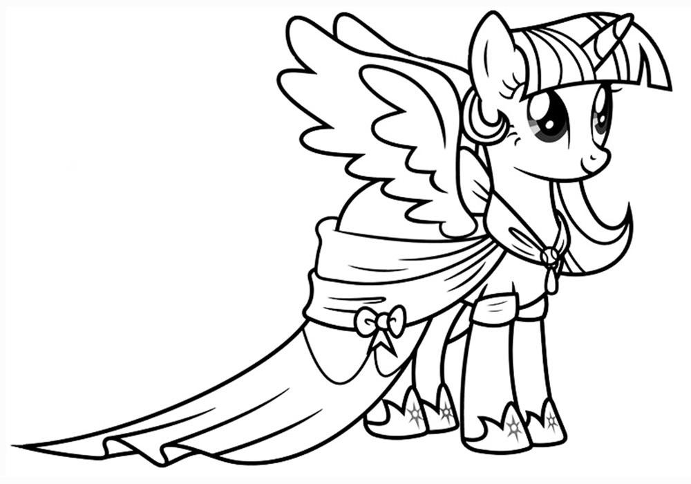 Раскраска пони Искорка из Май Литл Пони - распечатать A4