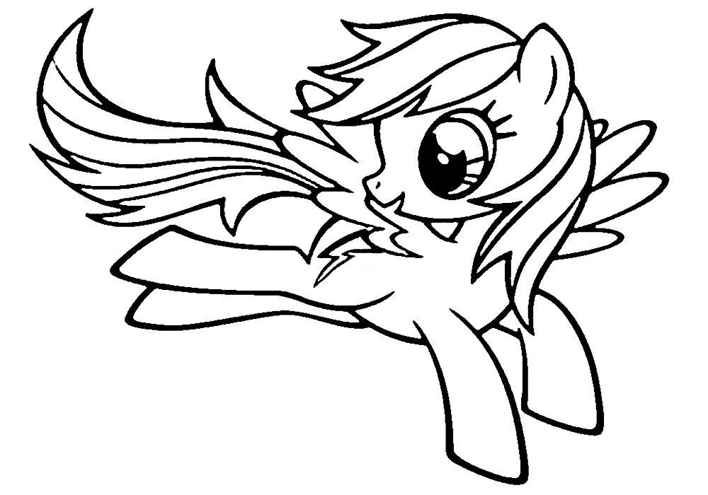 Раскраска пони Радуга из Май Литл Пони - распечатать бесплатно