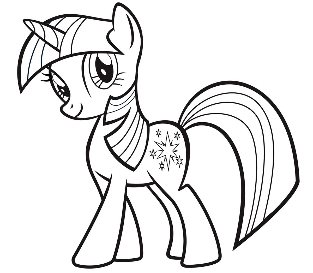 Раскраска пони Сумеречная Искорка из Май Литл Пони ...