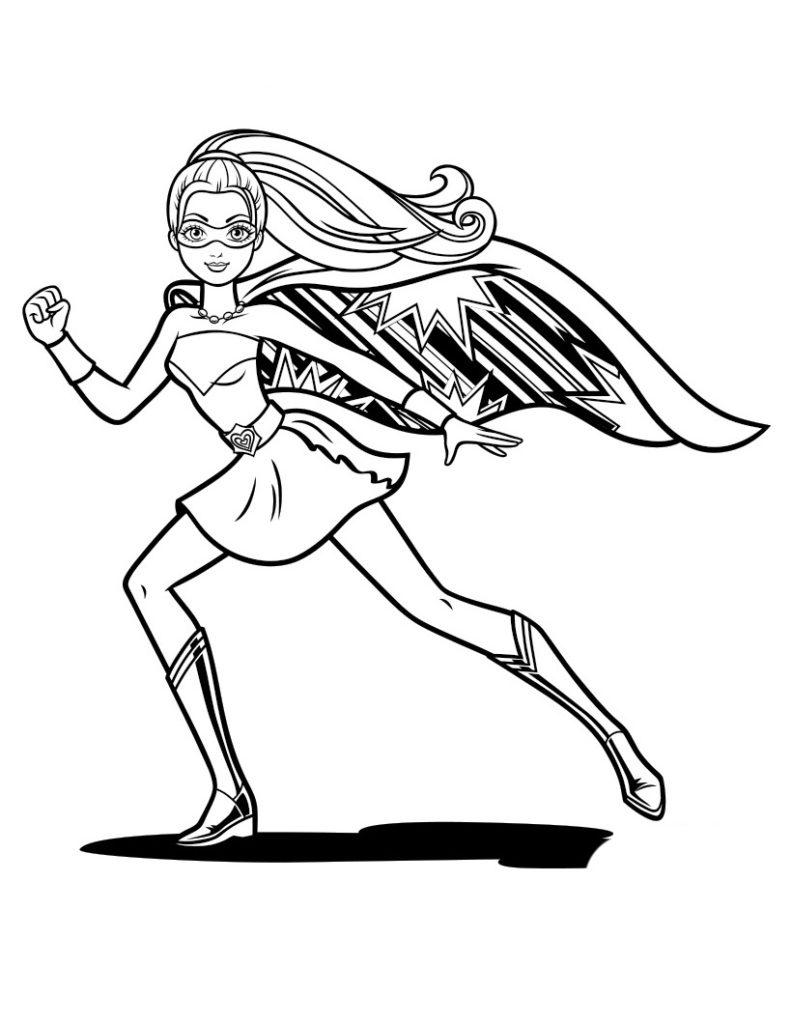 раскраска кара супергероиня распечатать бесплатно на а4