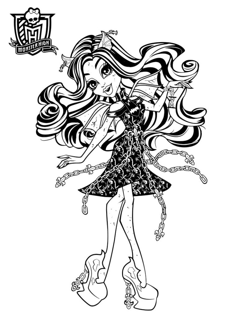 раскраска для девочек 10 лет рошель гойл из монстр хай