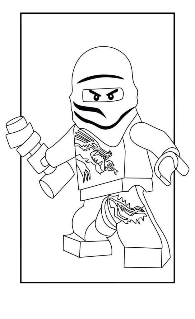 Раскраска Ниндзяго Зейн для детей - распечатать бесплатно