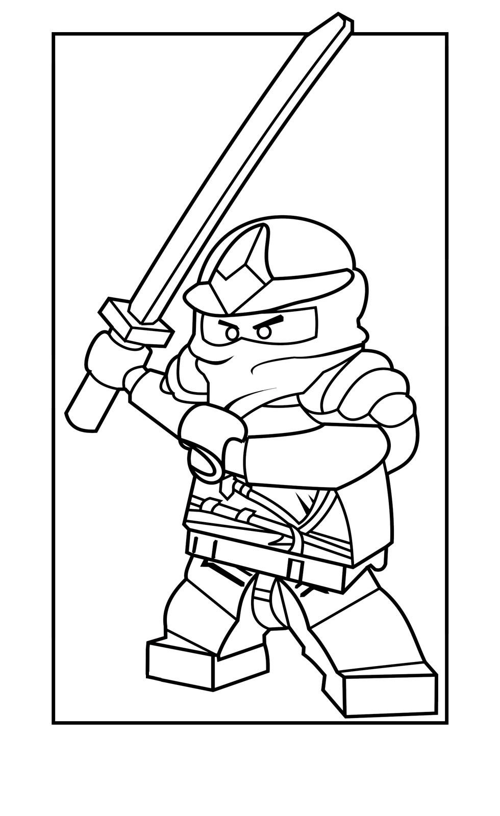 Раскраска для мальчиков Ninjago Zane ZX - распечатать ...