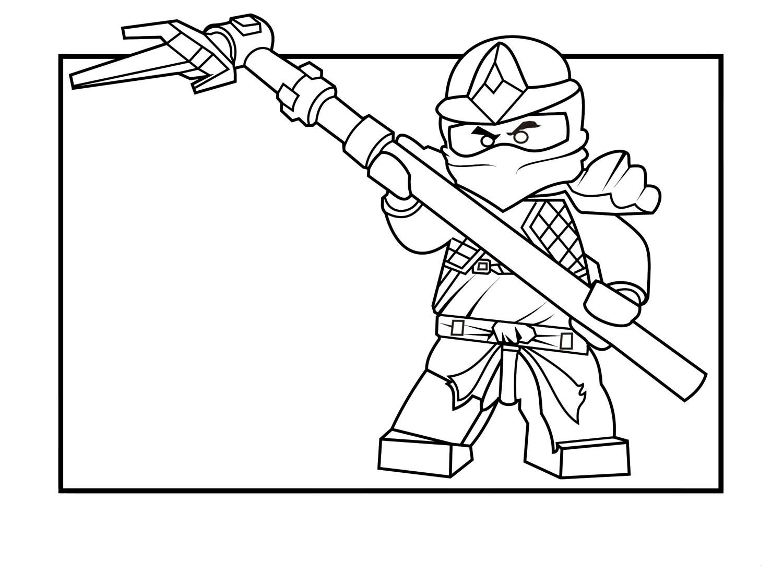 Раскраска Ninjago Cole ZX для детей - распечатать бесплатно