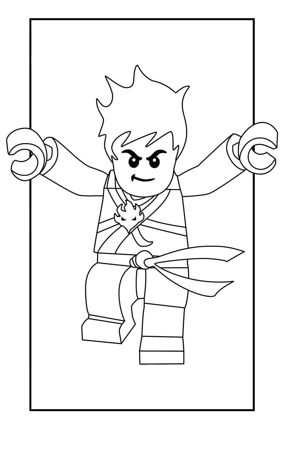 Раскраска Ниндзяго Кай – ниндзя огня для мальчиков ...