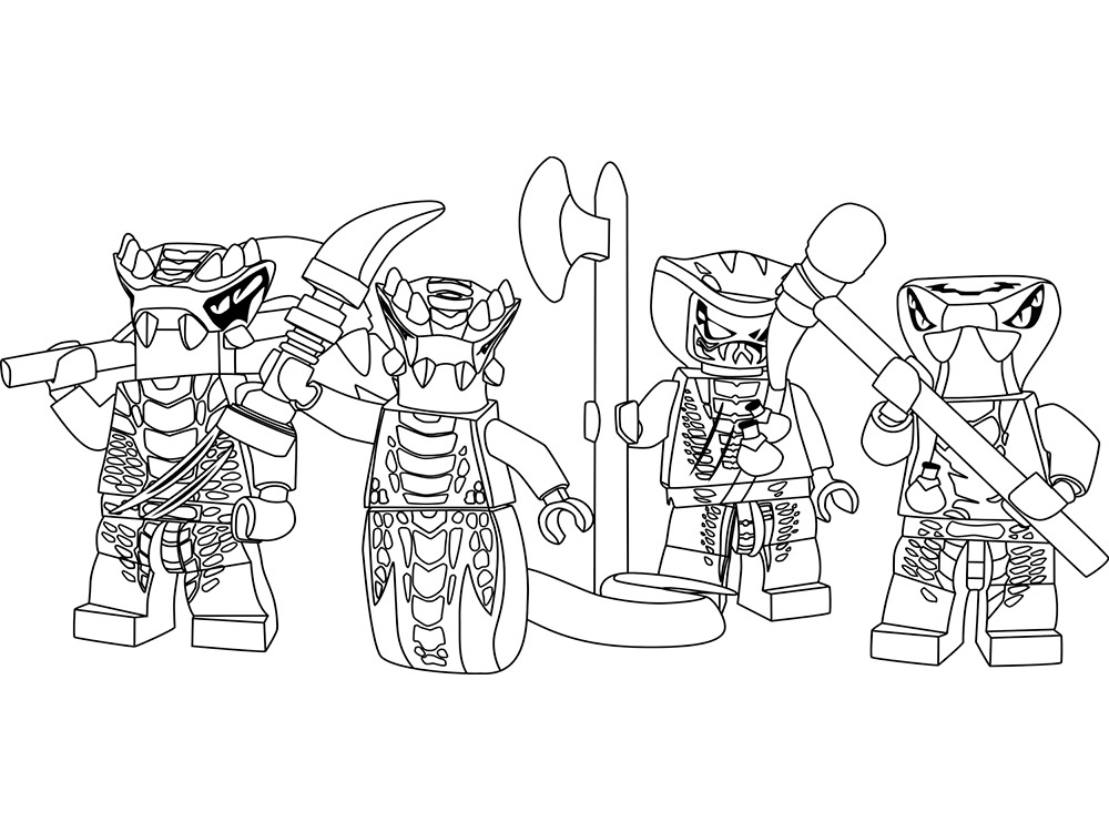 Раскраска для мальчиков Ниндзяго армия - распечатать ...