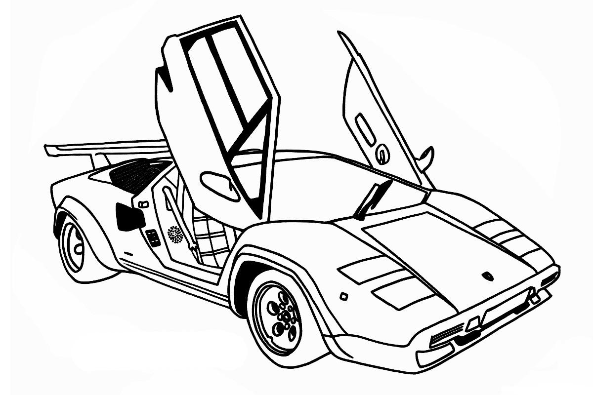 Раскраска Lamborghini Countach для мальчиков - распечатать ...
