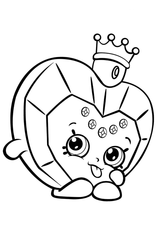Раскраска Шопкинс Духи принцессы - распечатать бесплатно