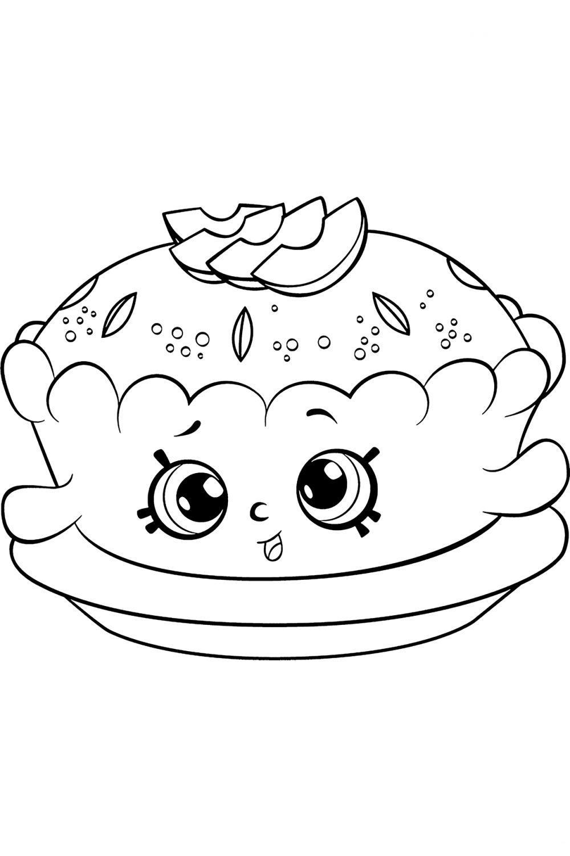Раскраска Шопкинс Яблочный пирог