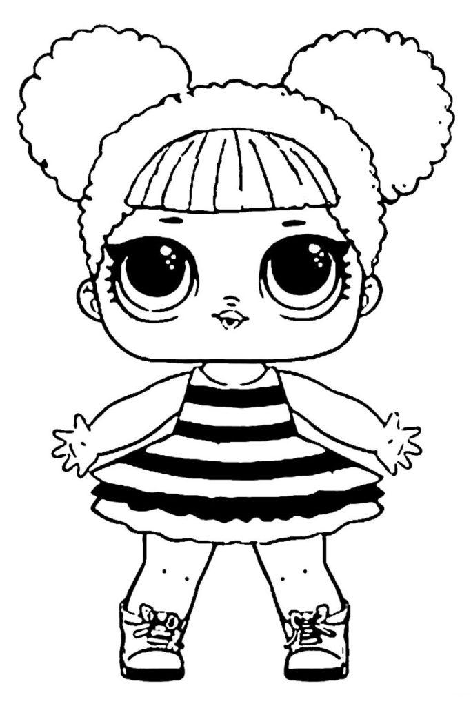 Раскраска ЛОЛ Королева Пчел - распечатать бесплатно в ...