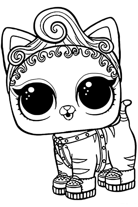Раскраска ЛОЛ питомец котенок Мур - распечатать и скачать ...