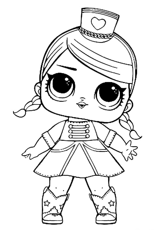 Раскраска ЛОЛ сестрёнка Мажоретка - распечатать бесплатно