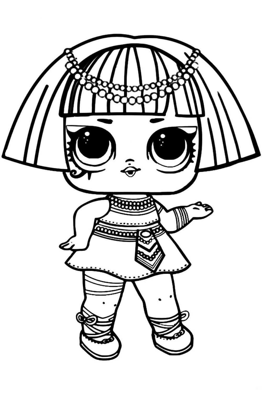 «Раскраска ЛОЛ старшая сестричка Фараон распечатать или ...
