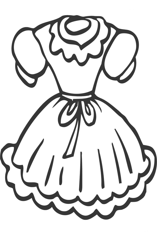 Раскраска Платье для мамы - распечатать бесплатно