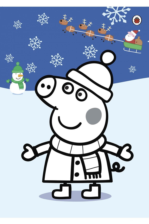 Раскраска Пеппа на Рождество и Новый год - распечатать ...